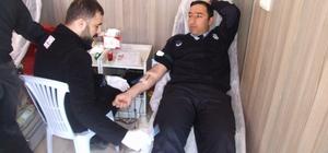 Yerköy zabıtasından kan bağışına destek
