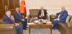 Çaturoğlu ve Ünal, İçişleri Bakanı Süleyman Soylu'yu ziyaret etti