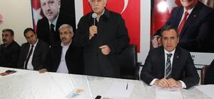 AK Parti Kahta teşkilatında Cumhurbaşkanının gelişi ile ilgili toplantı