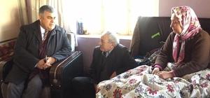 Başkan Özgüven'den engelli ve yardıma muhtaçlara ziyaret