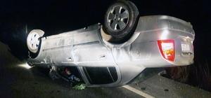 Milas Bodrum karayolunda otomobil takla attı; 2 yaralı