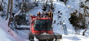 Diyaliz hastası paletli kar ambulansıyla kurtarıldı