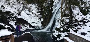 Kar yağışı doğaseverleri mutlu etti
