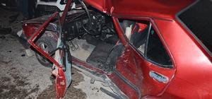 Milas'ta spin atan bir araç kaza yaptı; 1'i ağır 4 yaralı