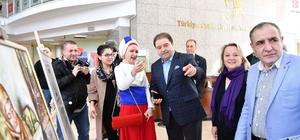Maltepe'de Rus Büyükelçi Karlov anısına resim sergisi açıldı