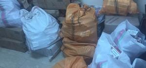 Terk edilmiş araçta 40 bin 500 paket sigara ele geçirildi