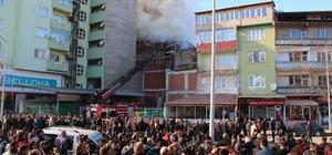 Oltu'da çatı katında çıkan yangın korkuttu