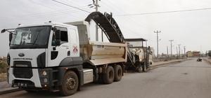 Döşemealtı Belediyesi'nden kaldırım ve sıcak asfalt