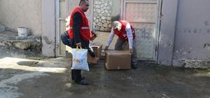 Türk Kızılayından Suriyelilere yardım