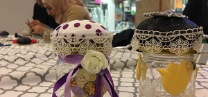 Düğme kutuları, Gaziantepli kadınların sihirli dokunuşlarıyla renklendi