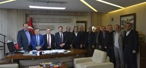 Başkan Anlayan kooperatif yönetimi ile bir araya geldi