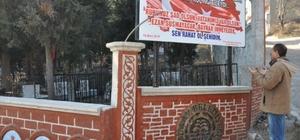 Simav Belediyesi şehitliğe bakım yaptı