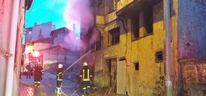 Kütahya'da metruk binada yangın