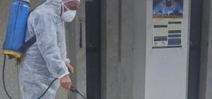 Maltepe'deki ibadethaneler dezenfekte edildi