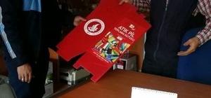 Esnaflardan atık pil toplama kampanyasına destek