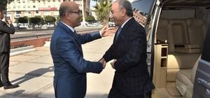 Eski Adana Valisi Mustafa Büyük'ten Vali Demirtaş'a ziyaret