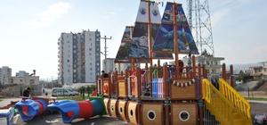 Erdemli'de çocuklar için ikinci gemi park yapıldı