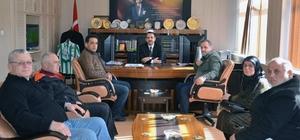 Şehit yakınlarından kaymakam ve belediye başkanına ziyaret