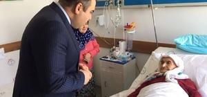 Başkan Erener'den hasta ziyaretleri