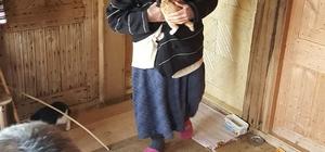 Yaşlı kadının hayvan sevgisi