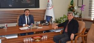 Edremit'in ilk İlçe Milli Eğitim Müdürü Yusuf Erdemir'den ziyaret