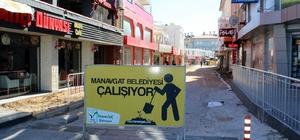 Manavgat Belediyesi'nden Aşağı Pazarcı'ya kaldırım