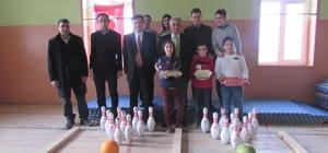 Mahmudiye Atatürk İlkokulu öğrencileri bowling topuna ilk kez dokundu