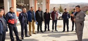 Dinar Belediyesi itfaiye personeline eğitim verildi