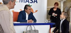 Başkan Uysal'ın konuğu küçük Ruscha oldu