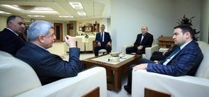 Başkan Karaosmanoğlu, Ağrı Valisi Işın'ı ağırladı