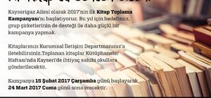 """Kayserigaz Kayseri'de ihtiyaç sahibi okula hediye etmek üzere """"Kitap Toplama Kampanyası"""" başlattı"""