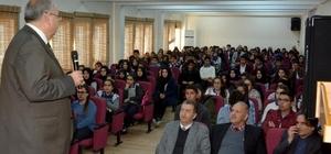 elediye Başkanı Kutlu Adıyaman Anadolu Lisesi öğrencileriyle buluştu