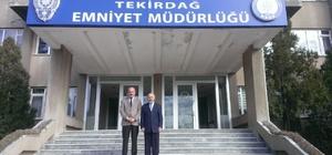 İl Müftüsü İpek'ten Emniyet Müdürü Aydın'a ziyaret