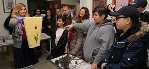 Yabancı öğrenciler ebru atölyesine katıldı