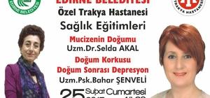 Edirne'de sağlık eğitimleri devam ediyor