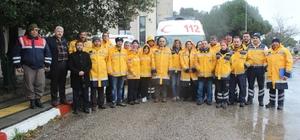 Bartın'da ambulans şoförlerine sürüş teknikleri eğitimi verildi