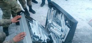 Televizyon içinde kaçak sigara ele geçirildi