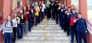 Oryanting sporunda Gaziantep'teki Lisenin büyük başarısı