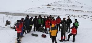 Ovit Dağı'nda kar ve çığ eğitimi