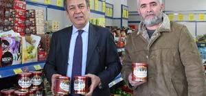 Milas'ta yerel markalı ürünler raflarda yerini aldı