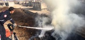 Odunlukta çıkan yangın itfaiye ekiplerince söndürüldü