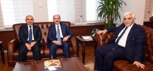 Çalışma ve Sosyal Güvenlik Bakanı Mehmet Müezzinoğlu'na ziyaret