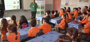Kocasinan'daki okullarda geri dönüşüm eğitimi devam ediyor