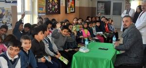 Yazar Çavdar, 3 ilkokulda öğrencilerle buluştu