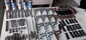 Rize'de kaçak silah yapılan eve baskın
