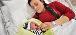 Mersin Şehir Hastanesinde ilk bebek heyecanı