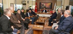 Muhtarlardan Özkan'a teşekkür ziyareti