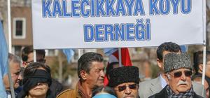 Kırım Tatarları Rusya'yı protesto etti