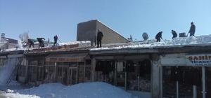 Tekman'da karla mücadele