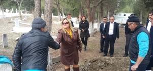 Gölmarmara mezarlıklarında çalışmalar hızlandı